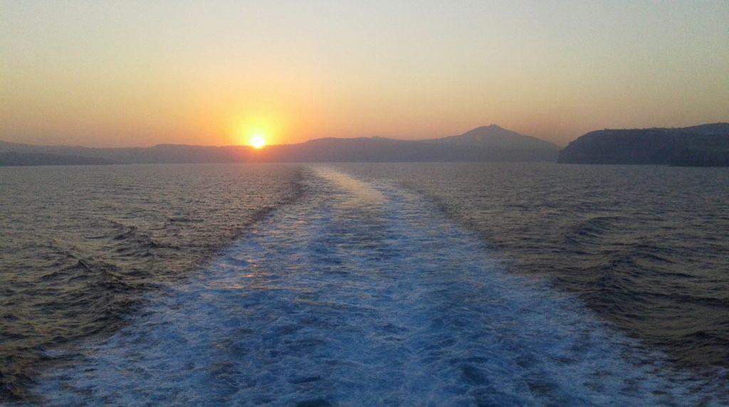 Ferry de retour à Athènes