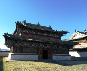 Les restes du monastère de Karakorum en Mongolie centrale