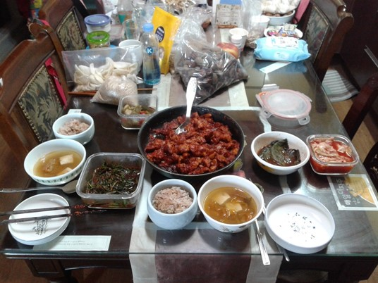Poulet Dakgalbi à Chuncheon en Corée du Sud