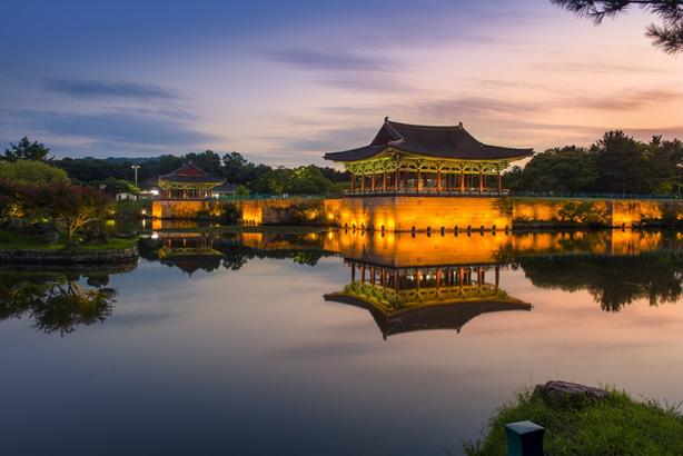 Le palais Donggung à Gyeongju