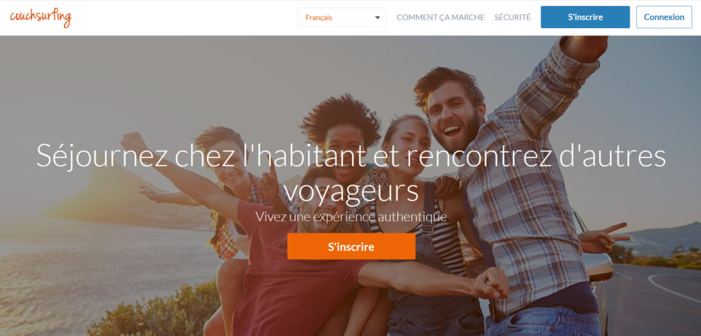 Le site couchsurfing.com